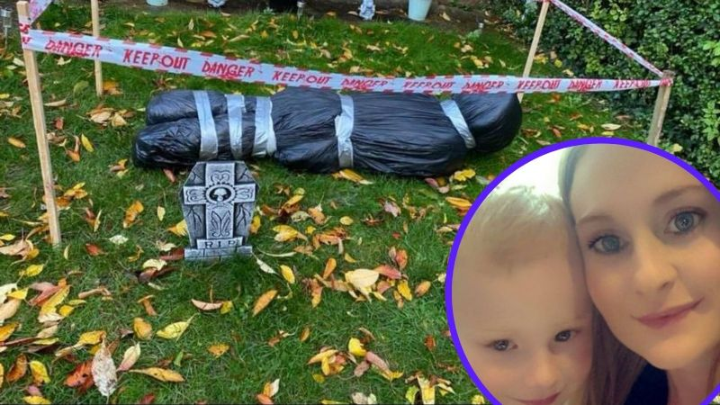 Sustos que dan gusto: Reportan un cadáver y resulta ser decoración de Halloween olvidada
