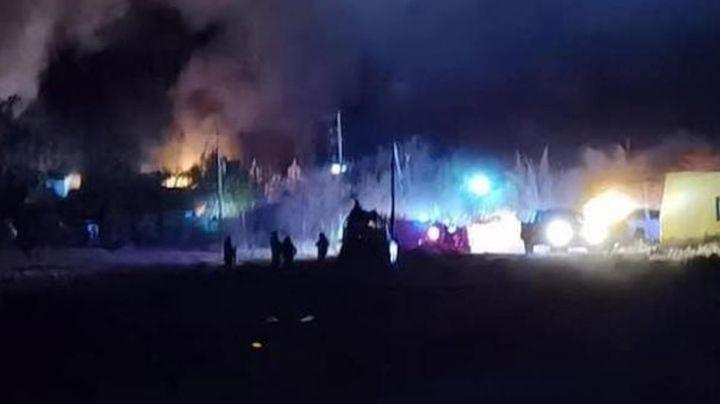 Comando armado irrumpe en rancho de Caborca, Sonora, y lo incendia; hay pérdidas totales