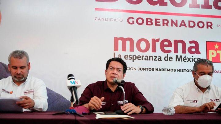 Mario Delgado muestra pruebas de amenazas contra candidatos de Morena en Michoacán