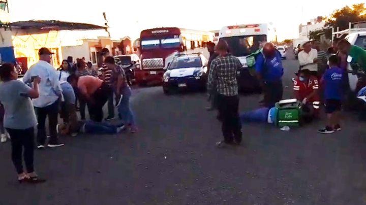 Motociclista atropella a menor de edad al sur de Ciudad Obregón; ambos fueron hospitalizados