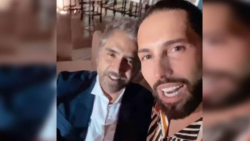 Poncho De Nigris se coló a la boda de Alex Fernández; VIDEO con 'El Potrillo' lo demuestra