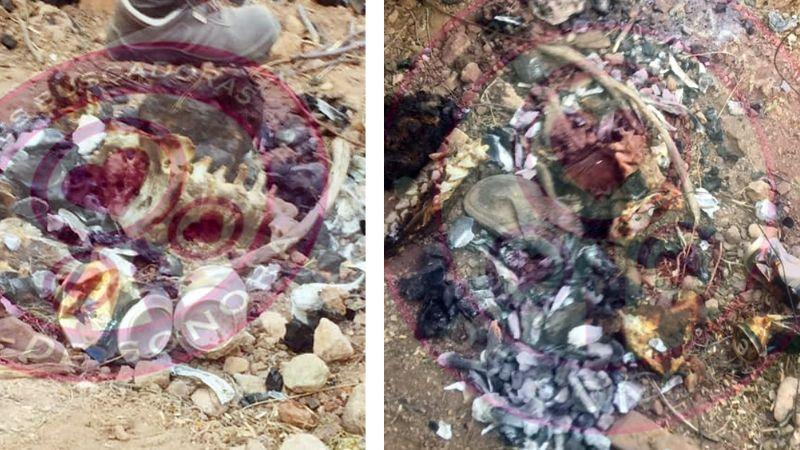 Terrible hallazgo en Sonora: Descubren cadáver totalmente calcinado en predio baldío