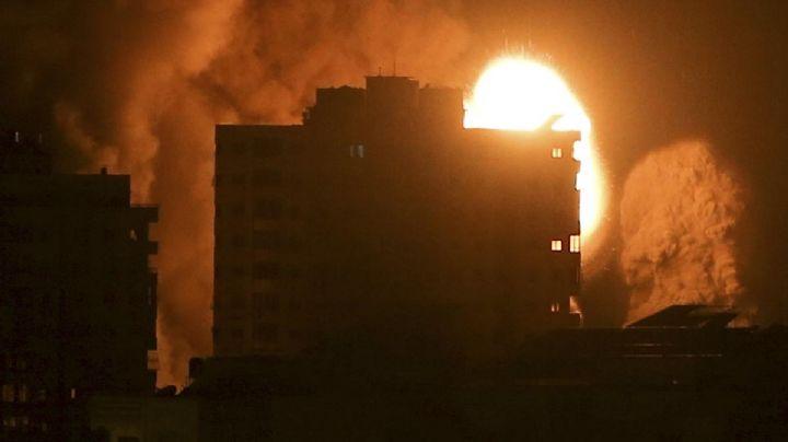 VIDEO: Israel ataca guarida de Hamás en la Franja de Gaza; así fue el impactante derrumbe