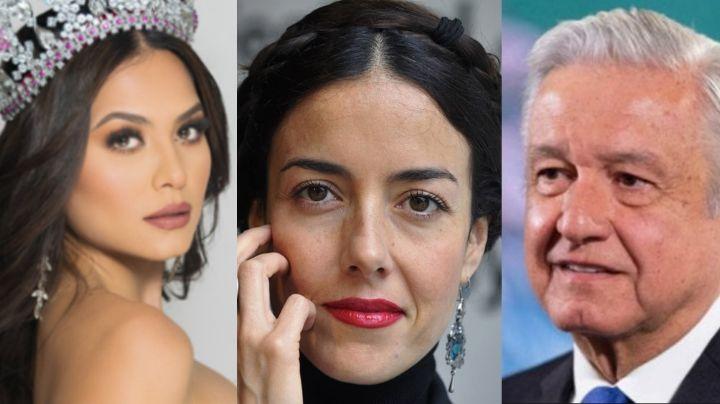 Cecilia Suárez tunde a AMLO por festejar triunfo de Andrea Meza en Miss Universo y la destrozan