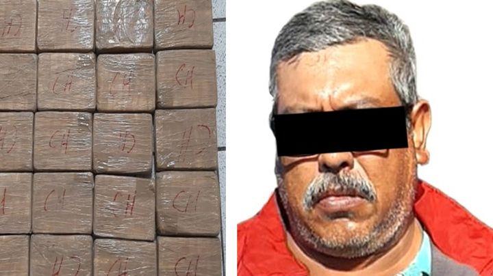 Arrestan a trailero en carretera de Sonora; llevaba 50 kilos de cocaína y 20 kilos de fentanilo