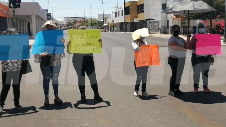 Tianguistas bloquean calles de Hermosillo; piden apoyo a las autoridades