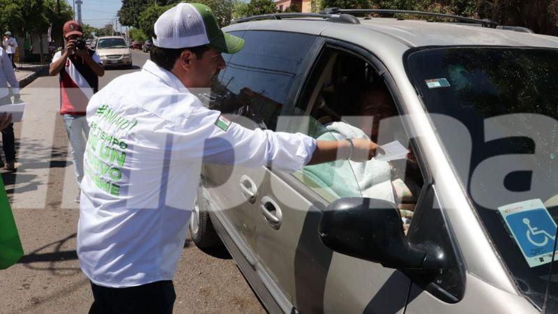 Cajeme: Tras pausa por el asesinato de Abel Murrieta, Fidel Covarrubias reanuda campaña electoral