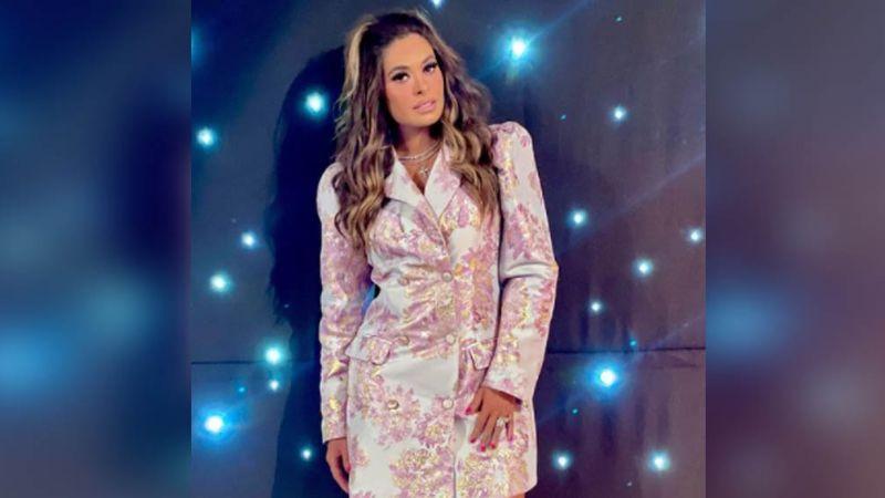 Galilea Montijo pone arder las redes al aparecer desde Televisa con enloquecedor vestido de seda