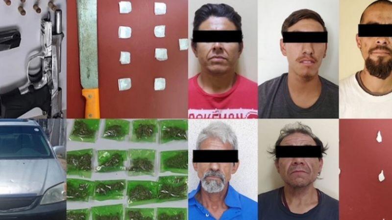 Capturan a seis delincuentes al norte de Sonora; les aseguran armas, drogas y vehículos