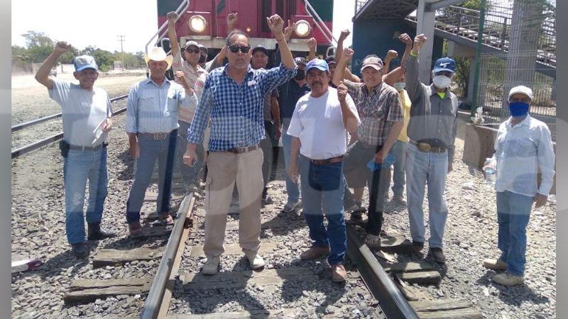 Ferrocarrileros se oponen a bloqueo de vías en Empalme por parte de demandantes