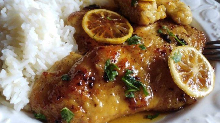 ¡Simplemente delicioso! Deleita tu paladar con este exquisito pollo al limón libre de grasa