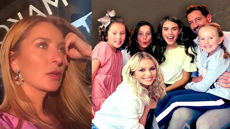 Hijas de Geraldine Bazán ya conviven con Irina Baeva; las captan al comprar ropa ¿de maternidad?