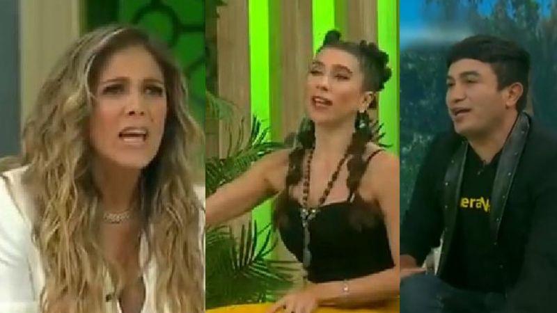 """Natalia Alcocer tiene dura pelea con Gabo Cuevas y Bella de la Vega en vivo en TV Azteca: """"Envidiosa"""""""