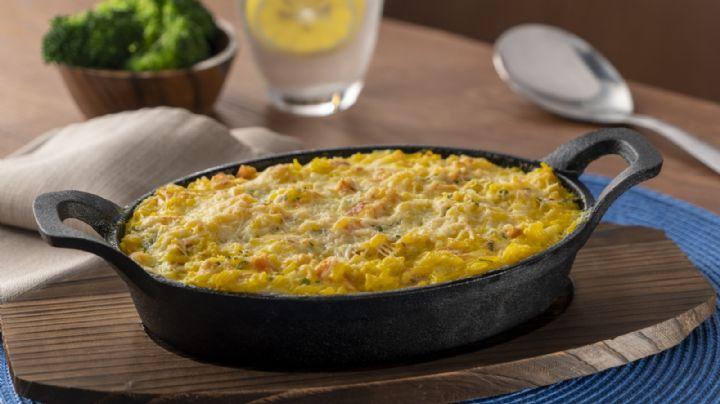 Reinventa el sabor de tus comidas con este sabroso arroz gratinado