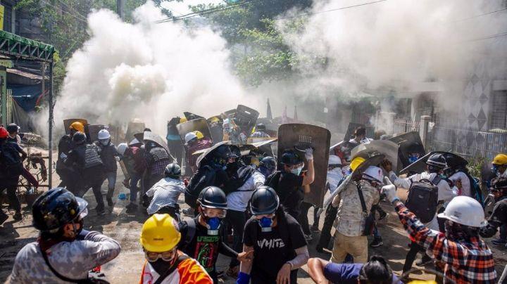 Violencia en Birmania: Seguridad acalla con balas a protestantes; han muerto seis