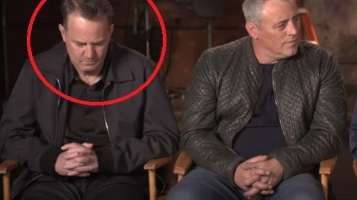 """(VIDEO) Preocupa a fans el extraño comportamiento de Matthew Perry en 'Friends': """"Me asusta"""""""