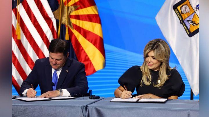 Relación Sonora-Arizona hace historia en EU y México, según Claudia Pavlovich y Doug Ducey
