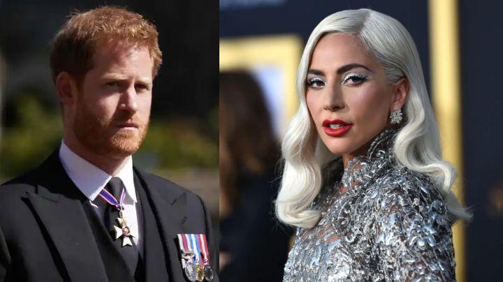 Lady Gaga se sincera con el Príncipe Harry; revela embarazo adolescente y brutal ataque