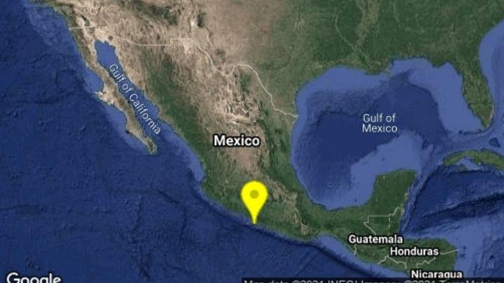 ¡Atención! Sismo azota a Guerrero; su magnitud fue de 4.1 en el suroeste de Técpan