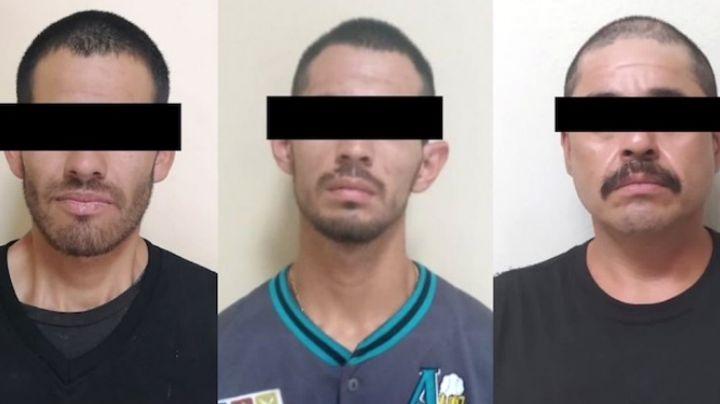 Capturan a tres presuntos 'tiradores' al norte de Sonora; aseguran 35 pastillas de fentanilo