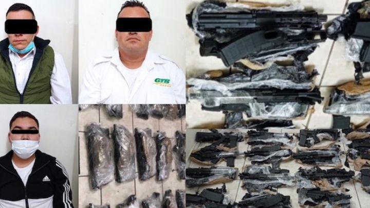 Autobús viajaba con 15 armas de alto poder en carretera de Sonora; hay tres detenidos