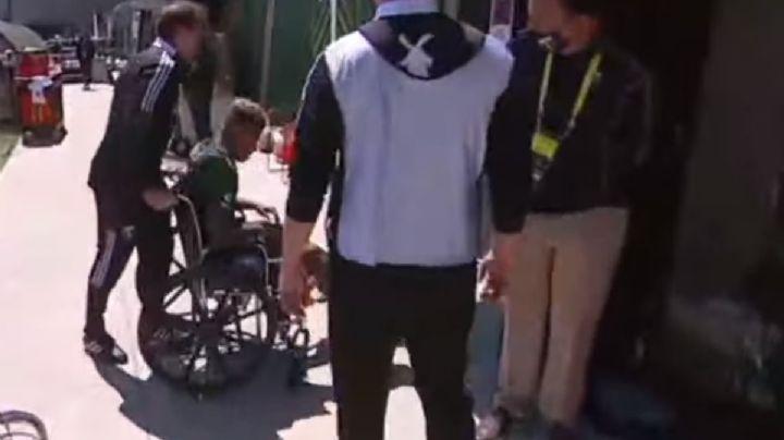 VIDEO: Terrible entrada durante partido entre Portland y Galaxy; jugador sale en silla de ruedas