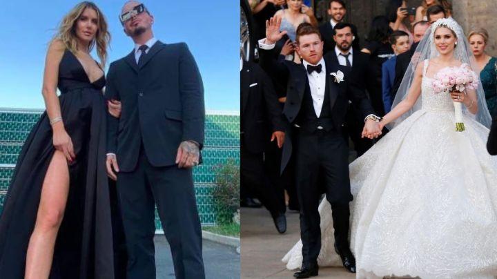 ¿No la paso bien? Tras asistir con Valentina, J Balvin le envía mensaje a 'Canelo' sobre su boda