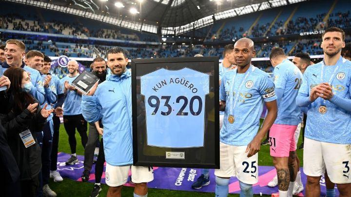 ¡Con doblete! Así se despidió Kun Agüero del Manchester City y la Premier League