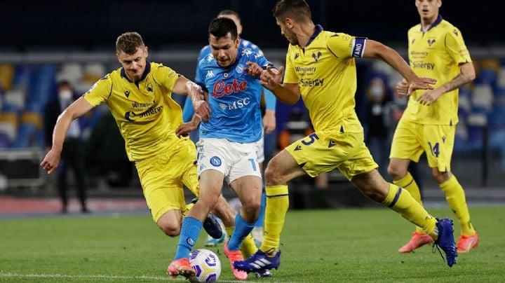 Napoli no consigue el triunfo ante el Hellas Verona y se queda sin Champions League