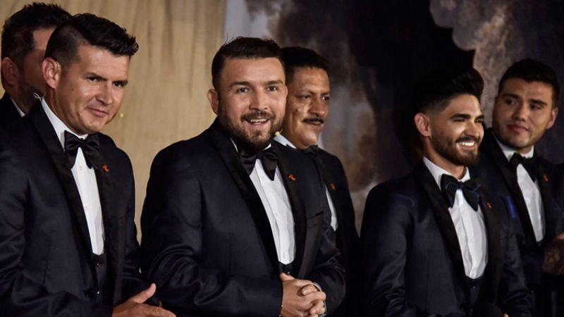 ¿Con copas de más? Banda El Recodo comparte VIDEO tras asistir a la boda de el 'Canelo'