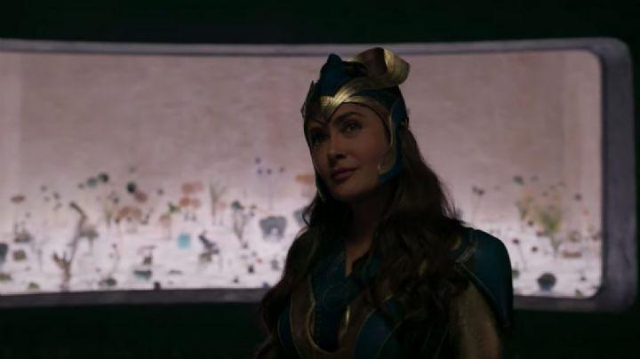 Salma Hayek se convierte en superheroína de Marvel para el primer trailer de 'Eternals'
