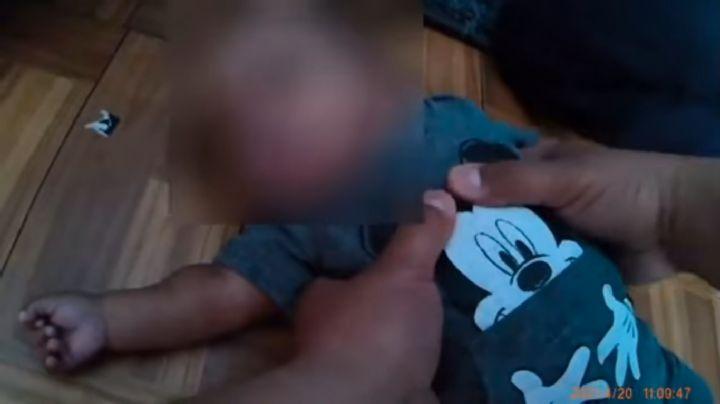 VIDEO: Policías latinos le salvan la vida a un bebé de 3 meses que no podía respirar