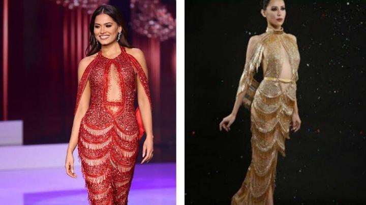 Diseñador aparece en TV Azteca y revela si plagió vestido que lució Andrea Meza en Miss Universo