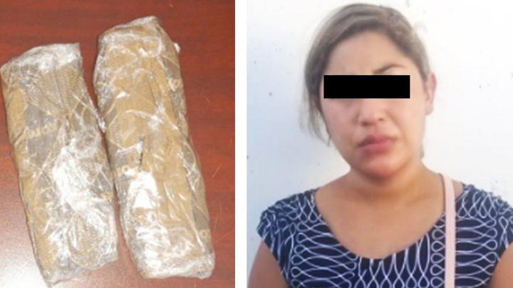 Arrestan a Erika en carretera de Sonora; viajaba en autobús con cargamento de heroína