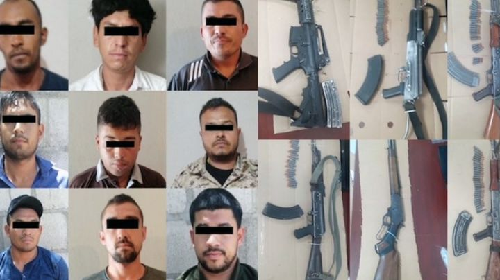 Atrapan a grupo de sicarios armados al norte de Sonora; les aseguran armas de alto poder