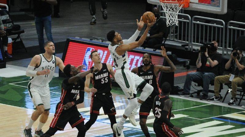 Milwaukee sigue 'caliente' ante Miami y se coloca 2-0 en su serie de playoffs de la NBA