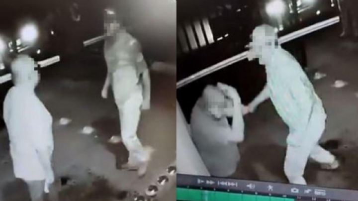 FUERTE VIDEO: Hombre enfurece y da brutal golpiza a anciano; lo empujó y le tiró los dientes
