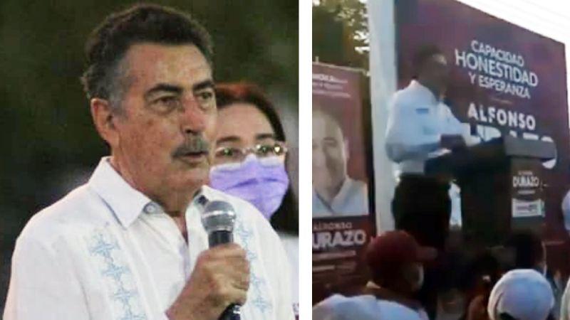 """VIDEO: Javier Lamarque, candidato a la alcaldía de Cajeme, llama """"cajemensas"""" a mujeres"""