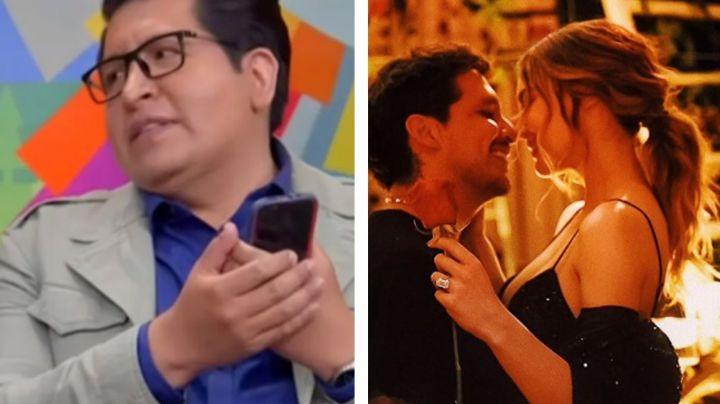 """En 'Sale el Sol', Kaffie exhibe farsa tras romance de Belinda y Nodal: """"Fue armado en TV Azteca"""""""