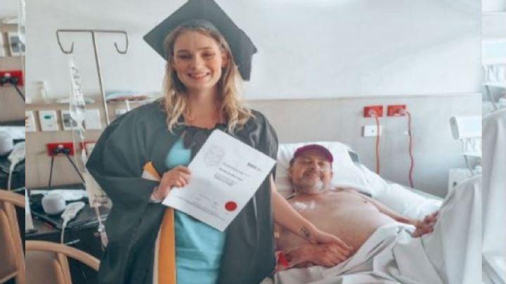 """Kassidy """"adelanta"""" su graduación para cumplir el último deseo de su papá enfermo de cáncer"""