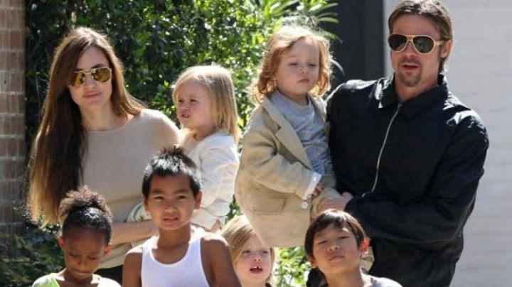 """""""Él está aliviado"""": Brad Pitt gana custodia compartida de sus 6 hijos con Angelina Jolie"""