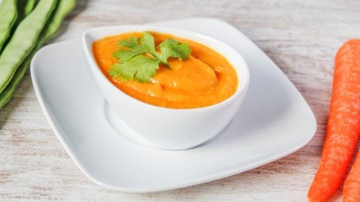 Prepara esta rica crema de zanahoria y haz de la hora de la comida tu momento especial