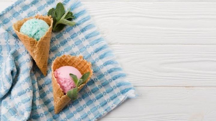 Regresa a tu infancia gracias al sabor de este increíble y sencillo helado de chicle