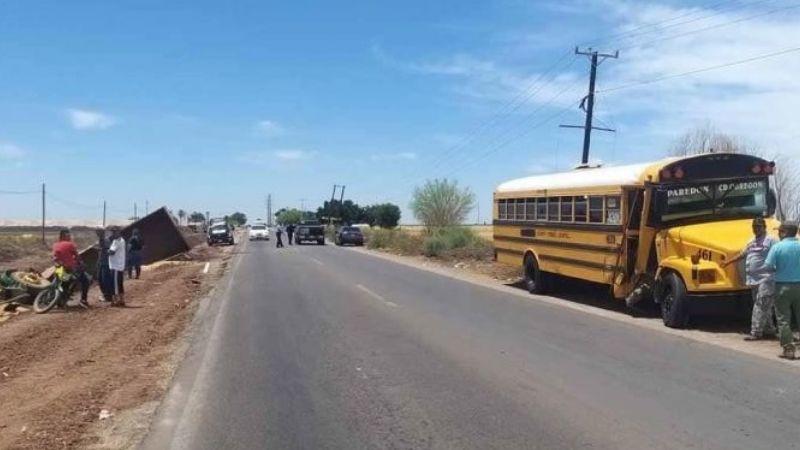 Valle del Yaqui: Choque entre camión y tractor deja un lesionado y cuantiosos daños materiales