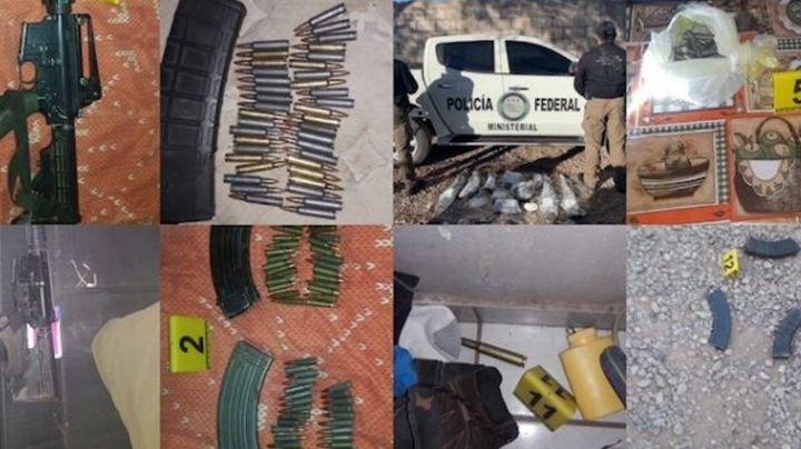 Golpe el crimen organizado: Incautan fuerte arsenal y un vehículo durante cateo en Sonora