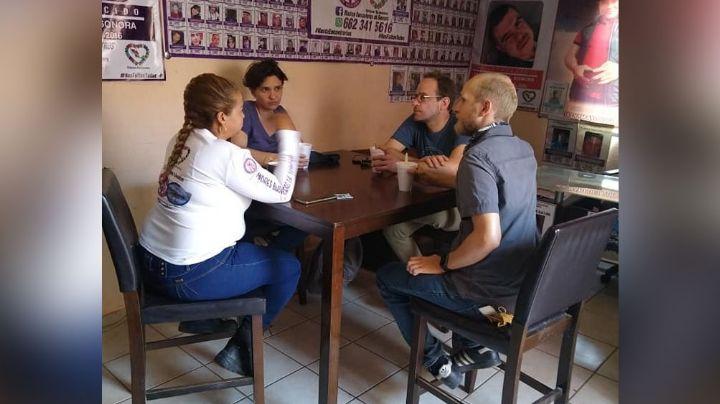 Madres Buscadoras se reúnen con alemanes para colaborar en un proyecto en Guaymas