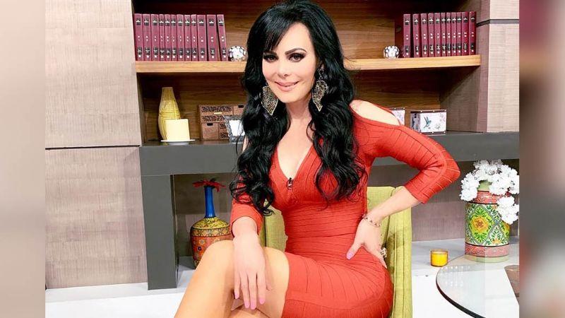 En inquietante vestido rojo, Maribel Guardia celebra su cumpleaños 62 en programa 'Hoy'