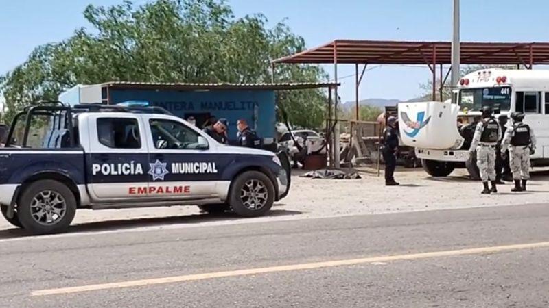 Violencia en Empalme: Sicarios ultiman a balazos a hombre frente a taller mecánico