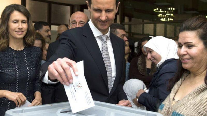VIDEO: Bashar al-Assad es reelegido en Siria; arrasó con el 95 por ciento de los votos