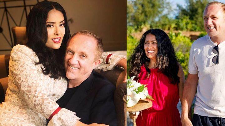 Salma Hayek deja en shock al revelar romántica FOTO con su esposo por su cumpleaños